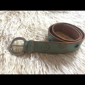 EUC-Fossil Leather Belt